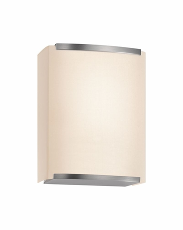 4417.13 Sonneman Wave Shade Contemporary ADA 1-Light Wall Sconce with Satin Nickel Finish