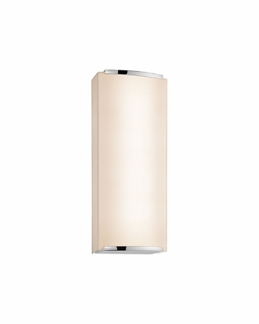 4418.01 Sonneman Wave Shade Contemporary ADA 2-Light Wall Sconce with Polished Chrome Finish