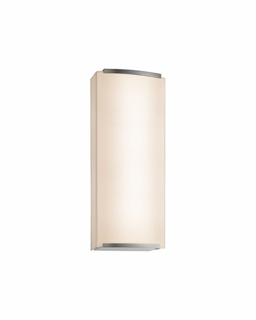 4418.13 Sonneman Wave Shade Contemporary ADA 2-Light Wall Sconce with Satin Nickel Finish