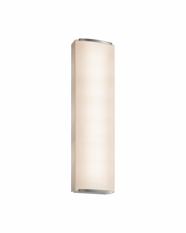 4419.13 Sonneman Wave Shade Contemporary ADA 3-Light Wall Sconce with Satin Nickel Finish