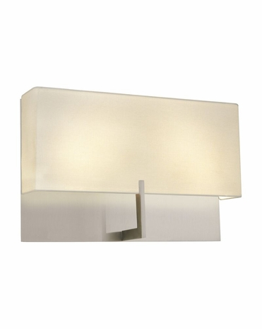 "4431.13 Sonneman Staffa Contemporary ADA 16"" Wall Sconce with Satin Nickel Finish"