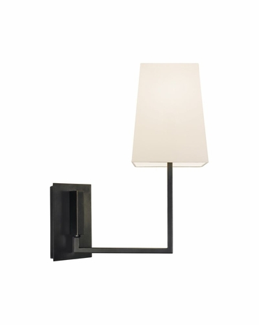4445.51 Sonneman Verso Contemporary Wall Sconce with Black Brass Finish