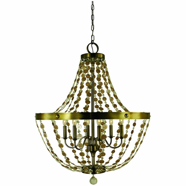 4486 Framburg Naomi 6 Light Foyer Chandelier