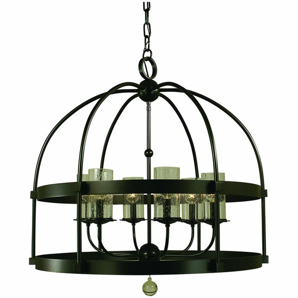 4526 Framburg Compass 6 Light Foyer Chandelier