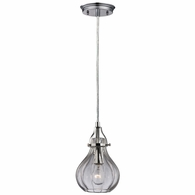 46014/1 ELK Lighting Danica 1-Light Mini Pendant in Polished Chrome with Clear Glass