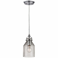 46019/1 ELK Lighting Danica 1-Light Mini Pendant in Polished Chrome with Clear Glass
