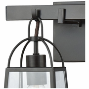 46271/2 ELK Lighting Barnside 2-Light Vanity Lamp in Oil Rubbed Bronze with Clear Glass Panels