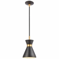 46503/1 ELK Lighting Modley 1-Light Mini Pendant in Matte Black with Metal