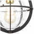 46733/1 ELK Lighting Davenport 1-Light Hanging in Charcoal with Seedy Glass