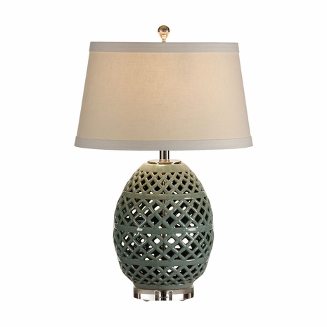 46891 Wildwood Lamps Cross Hatch Egg Lamp