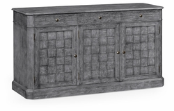 "491001-ADG Jonathan Charles Fine Furniture JC Edited - Casually Country 68"" Antique Dark Grey Three Door Sideboard"