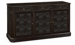 "491001-PDA Jonathan Charles Fine Furniture JC Edited - Casually Country 68"" Dark Ale Three Door Sideboard"