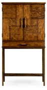 491003-CFW Jonathan Charles Fine Furniture JC Edited - Casually Country Country Walnut Drinks Cabinet With Iron Base