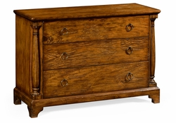 491004-CFW Jonathan Charles JC Edited - Casually Country Large Country Walnut Chest Of Drawers