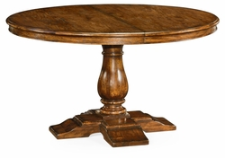 "491009-55D-CFW Jonathan Charles Fine Furniture JC Edited - Casually Country 55"" Circular Extending Dining Table In Country Walnut"
