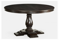 "491009-55D-PDA Jonathan Charles Fine Furniture JC Edited - Casually Country 55"" Circular Dark Ale Extending Dining Table"