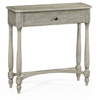 491017-RGA Jonathan Charles Fine Furniture JC Edited - Casually Country Rustic Grey Small Console Table With Drawer