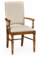 491018-AC-CFW-F001 Jonathan Charles Fine Furniture JC Edited - Casually Country Country Walnut Armchair, Upholstered In Mazo