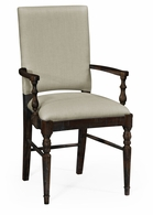 491018-AC-PDA-F001 Jonathan Charles Fine Furniture JC Edited - Casually Country Dark Ale Dining Armchair, Upholstered In Mazo