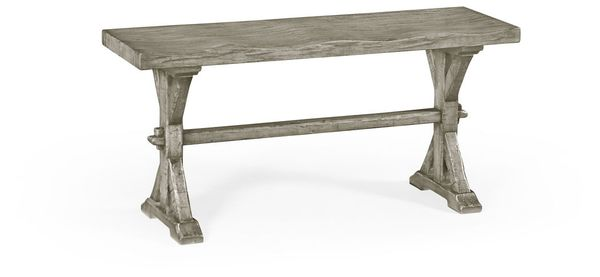 491088 Rga Jonathan Charles Fine Furniture Jc Edited Casually Country Narrow Rustic Grey Topped Bench