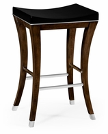 491117-AMW-SLW Jonathan Charles Fine Furniture JC Edited - Assorted American Walnut Counter Stool