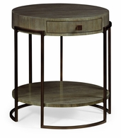 491137-LGC Jonathan Charles Fine Furniture JC Edited - Simply Elegant Chestnut Round Side Table