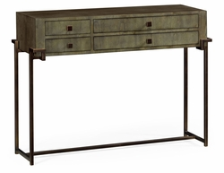 491139-LGC Jonathan Charles Fine Furniture JC Edited - Simply Elegant Chestnut Rectangular Console Table