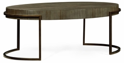 491140-LGC Jonathan Charles Fine Furniture JC Edited - Simply Elegant Chestnut Oval Coffee Table