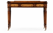 492006-WAL Jonathan Charles Windsor Leather Inset Dressing Table