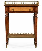 492007 Jonathan Charles Buckingham Lamp Or Bedside Table With Inset Leather