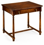 492020-WAL Jonathan Charles Country Farmhouse Rectangular Parquet Side Table With Drawer