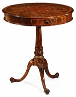 492057-WAL Jonathan Charles Windsor Oyster Veneer Lamp Table