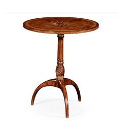 492064-WAL Jonathan Charles Traditional Windsor Collection Small Lamp Table With Starburst Inlay