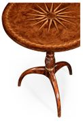 492064-WAL Jonathan Charles Windsor Small Lamp Table With Starburst Inlay