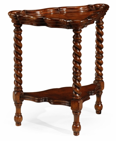 492078-WAL Jonathan Charles Windsor Serpentine Corner Table