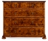 492090-WAL Jonathan Charles Country Farmhouse Oyster Veneer Large Chest Of Drawers