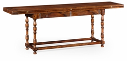 492095-86L-WAL Jonathan Charles Country Farmhouse Large Walnut Hunt Table