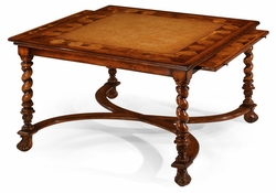 492098-WAL Jonathan Charles Windsor Square Oyster Coffee Table With Slides