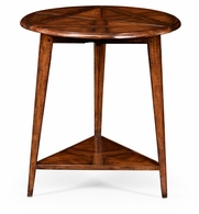 492099-WAL Jonathan Charles Country Farmhouse Walnut Cricket Table