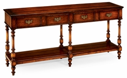 492105-WAL Jonathan Charles Country Farmhouse Planked Walnut Double Sideboard