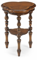 492127-MWW Jonathan Charles Windsor Trefoil Side Table (Walnut)