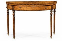492145-SAM Jonathan Charles Versailles Adam Style Console (Satinwood)