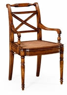 492147-AC-WAL Jonathan Charles Windsor Regency Cross Frame Back Chair (Arm)