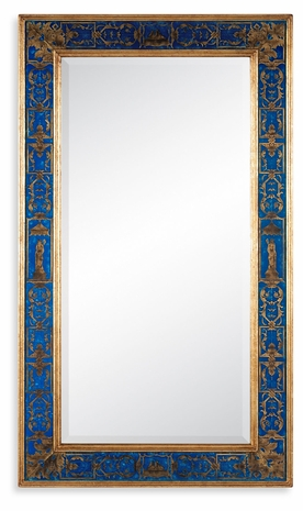 492205-GIL-GEB-GPM Jonathan Charles Buckingham Rectangular Mirror With Gilt Renaissance Decoration (Azure)