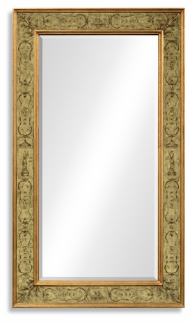 492205-GIL-GEG-GPM Jonathan Charles Buckingham Rectangular Mirror With Gilt Renaissance Decoration