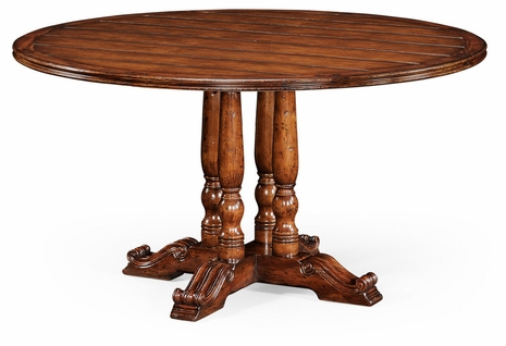 "492238-54D-WAL Jonathan Charles Country Farmhouse 54"" French Round Country Dining Table"