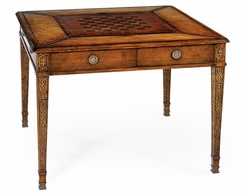 492242-WAL Jonathan Charles Windsor Square Games Table (Walnut)