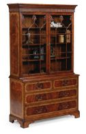 492255-MAH Jonathan Charles Late Regency Mahogany Glazed Display Cabinet