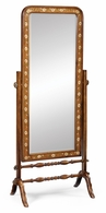 492263-SAM Jonathan Charles Satinwood & painted cheval mirror (Full length)