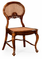 492276-SC-WAL Jonathan Charles Country Farmhouse French Style Salon Chair With Caned Back (Side)
